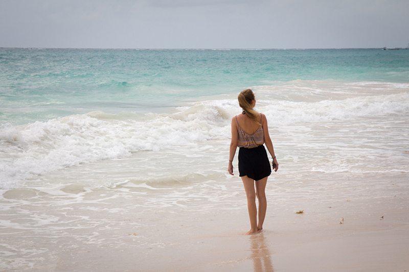 Planschen am Strand von Tulum