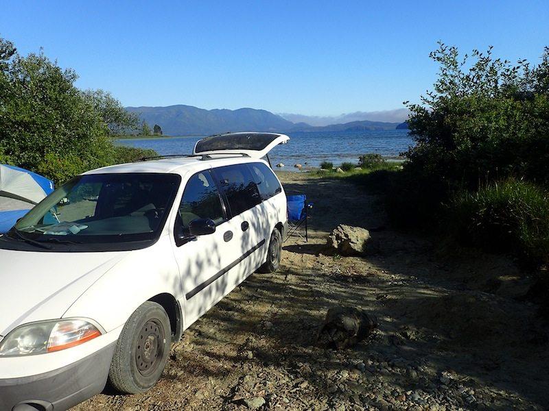 Wildcampen auf meienr Rundreise durch West-Kanada - hier auf Vancouver Island