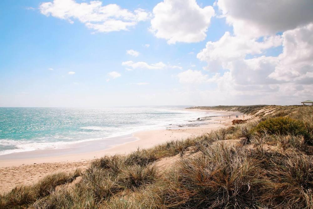 Westaustralien Route für einen Roadtrip - der Strand von Kalbarri im Norden