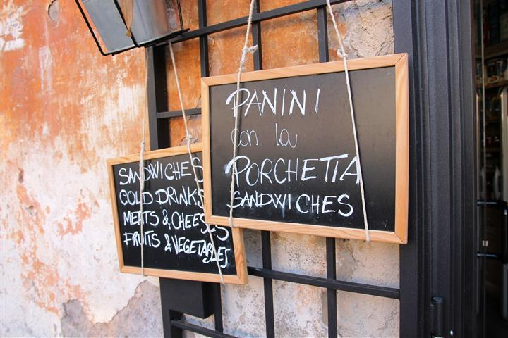 Günstige Restaurants Rom: frische Paninis