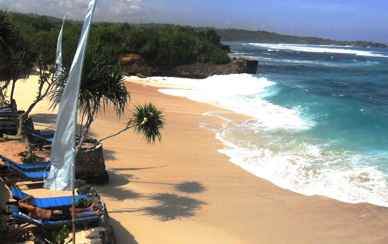 Der Dream Beach auf Nusa Lembongan, Bali