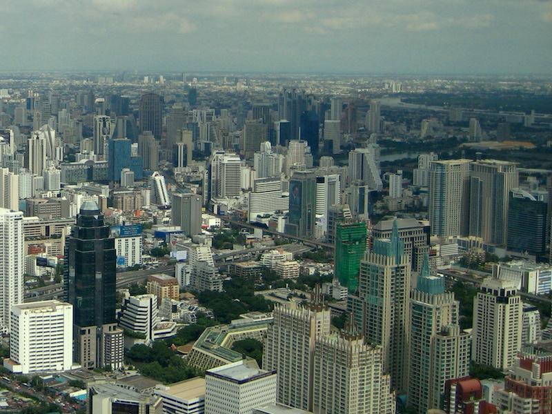 Aussicht vom Baiyoke Tower 2 in Bangkok