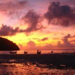 Noch mehr Sonnenuntergang am Strand