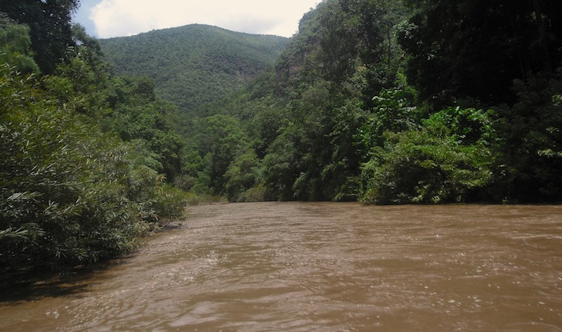 Rafting in Pai kostete uns 1500 Baht pro Person