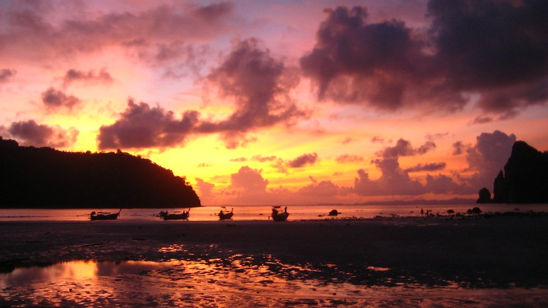 Sonnenuntergang auf Ko Phi Phi Thailand