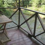 Unser Bungalow direkt am Nationalpark und dem Fluss Sok
