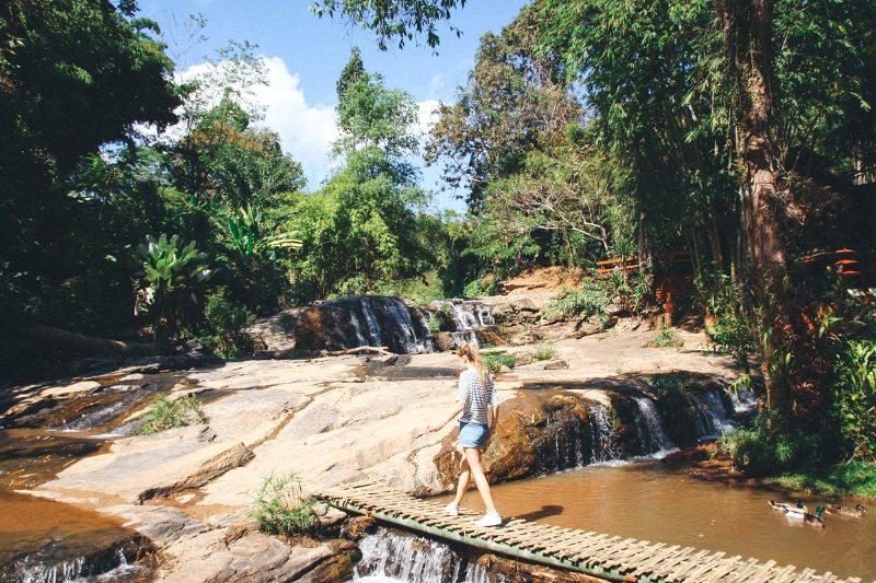 Tard Mork Wasserfall in Thailands Norden in der Nähe von Chiang Mai