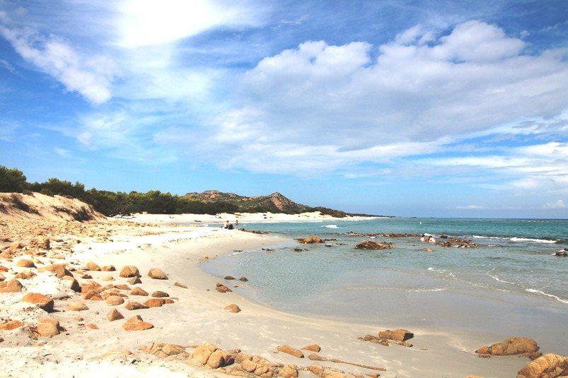 Schönste Strände Sardiniens im Naturpark Biderossa-Strand Berchida
