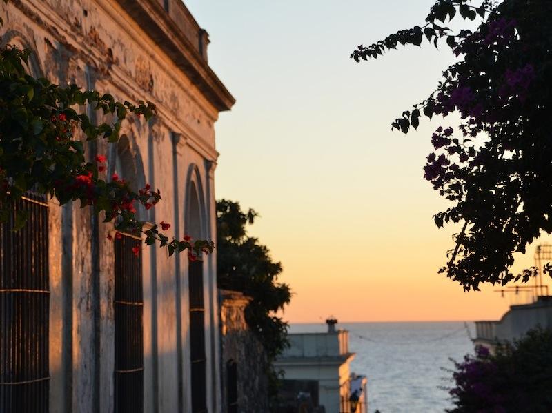 Blick zum Was aus in Colonia (Uruguay)