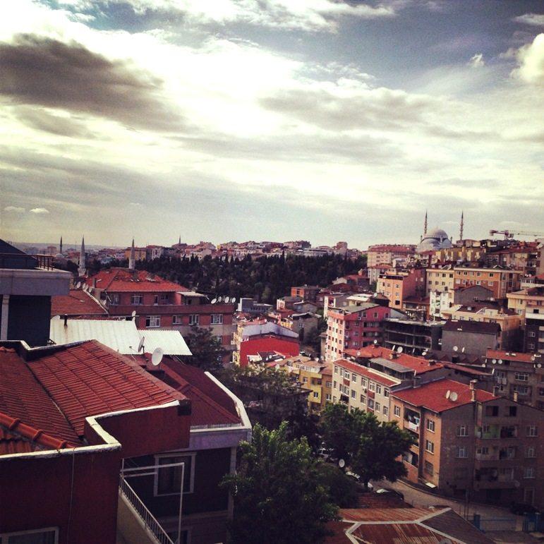 Blick über Istanbul von unserem Balkon