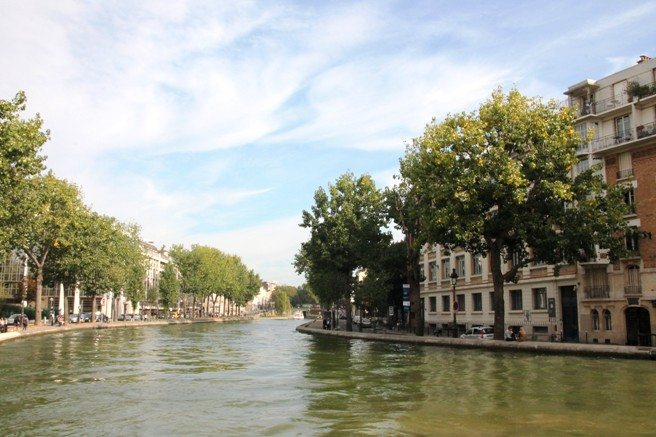 Studentenviertel Canal Saint Martin in Paris