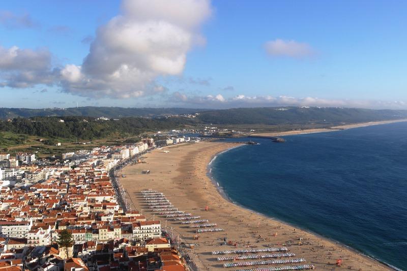 Ausblick vom Stadtteil Sitio auf Nazaré