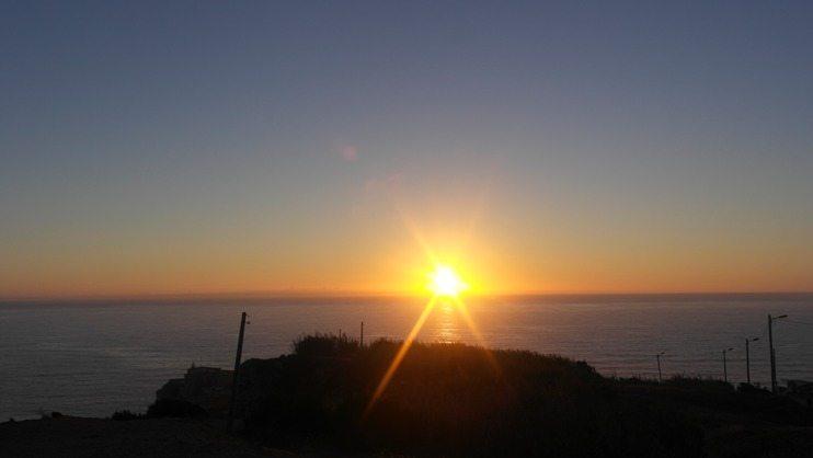 Sonnenuntergang über Nazaré