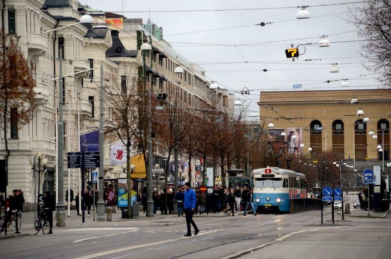 Die Champs-Elysees von Göteborg: Die Avenyn in der City