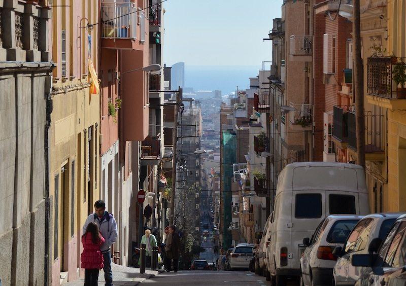 Lange Gassen in Barcelona