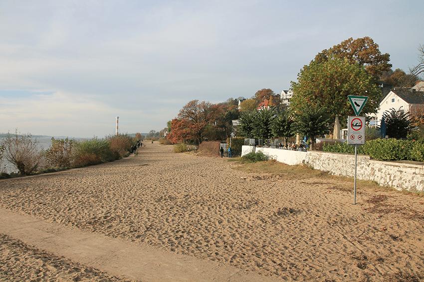 Der Strand in Blankenese, Hamburg
