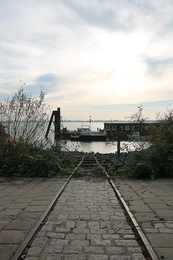 Die Elbe in Blankenese, Hamburg: Schöner Ort