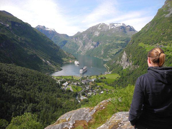 Rundreise Norwegen: Blick auf den Geiranger Fjord