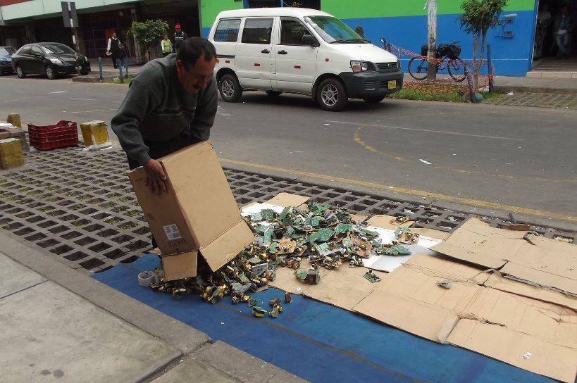 Markt an der Avenida Abancay in Lima, Peru