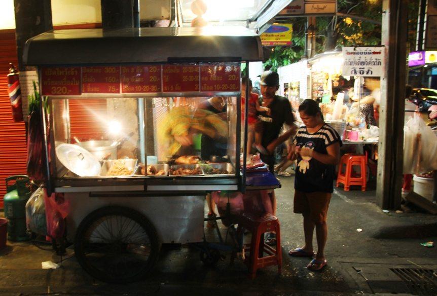 Die Straßenmärkte in Bangkoks Viertel Dusit