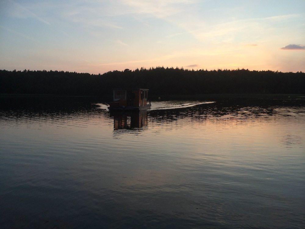 Sonnenuntergang auf der Mecklenburgischen Seenplatte. Herrlich.
