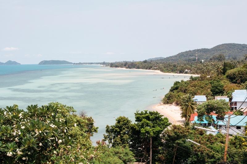 Ausblicke - davon bekommt man auf der schönen Insel Koh Phangan in Thailand viele