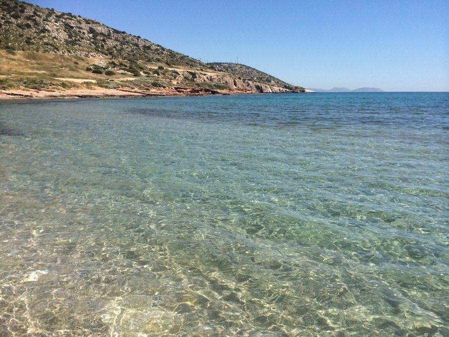 Strand Athen - gar nicht weit weg und mit glasklarem Wasser am Varkiza-Beach