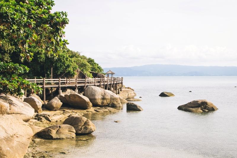 Ruhig und authentisch ist der Leela Beach ganz im Süden von Koh Phangan in Thailand