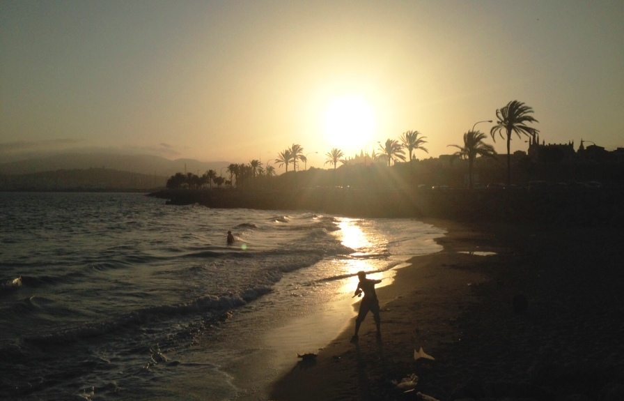 Sonnenuntergang in Palma, Mallorca