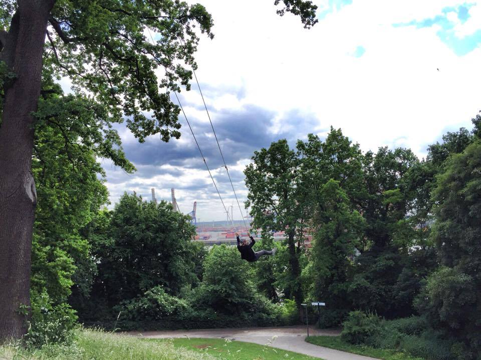Tipp für ein Wochenende in Hamburg: Spaziergang zum Donners Park am Hafen