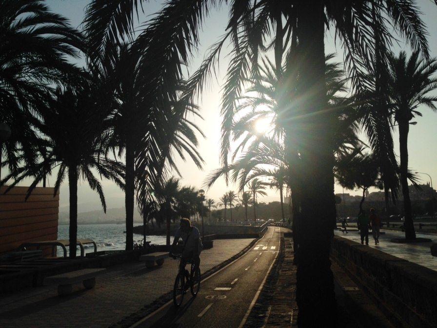 Strandpromenade in Palma, Mallorca