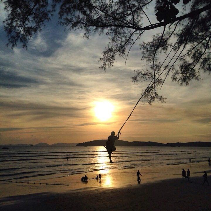 Sonnenuntergang in Ao Nang, Krabi