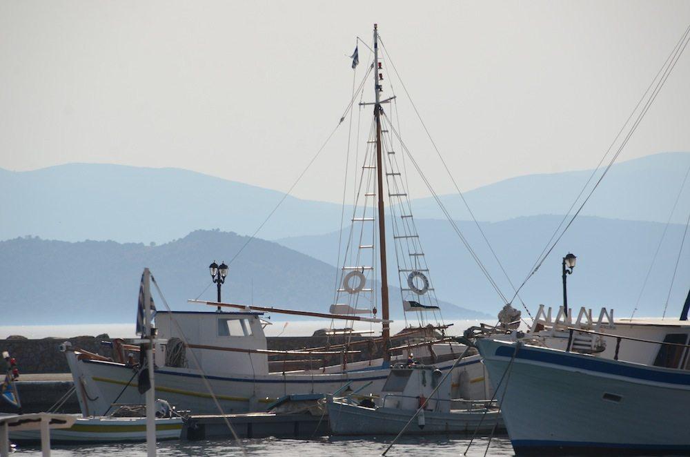 Ankunft am Hafen von Agistri