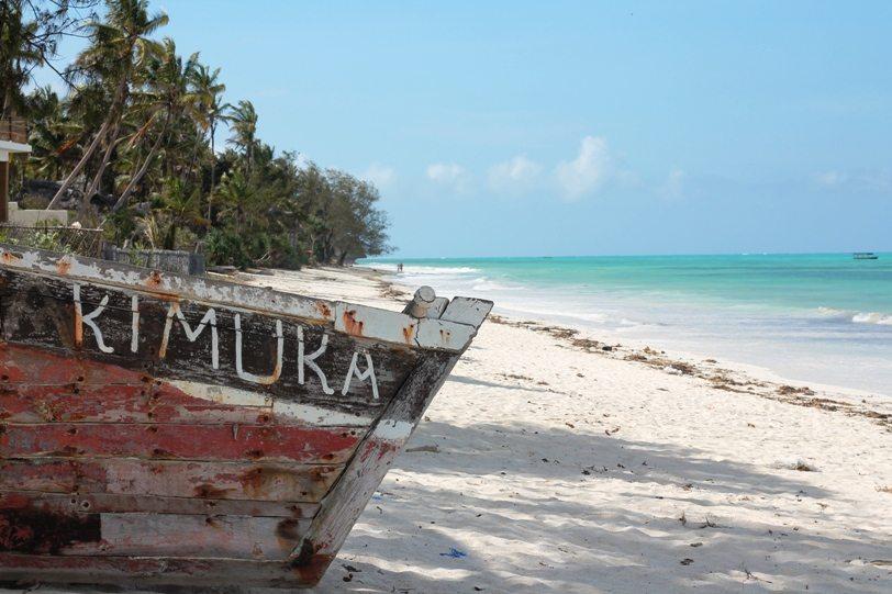 Strand in Pingwe, Halbinsel Michamvi auf Sansibar
