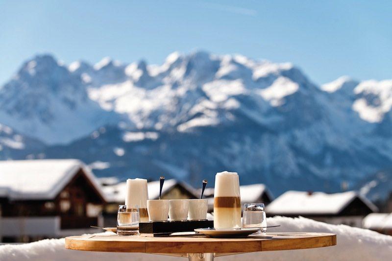 Guter Kaffee mit Bergblick - Kann der Tag schöner anfangen?