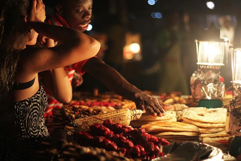 Nachtmarkt Forodhani Gardens in Stone Town Sansibar