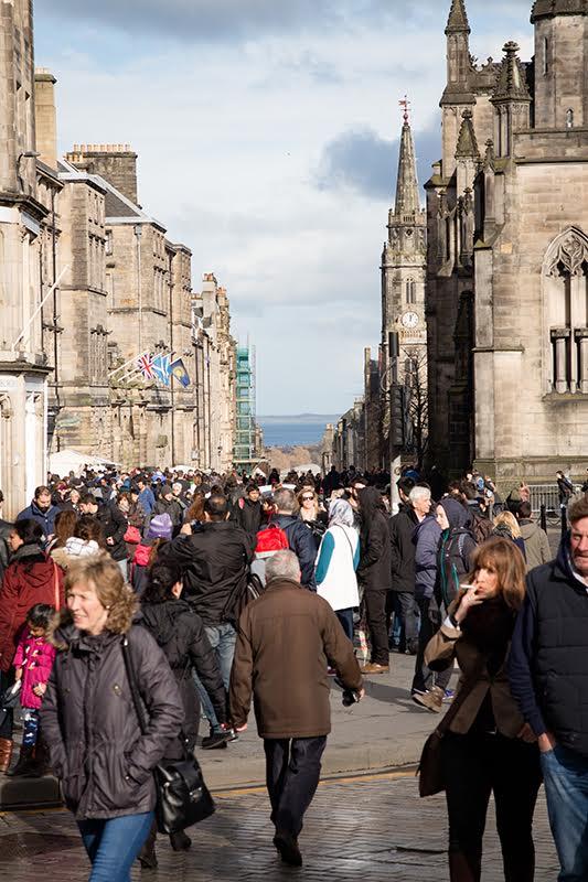 Die Old Town von Edinburgh