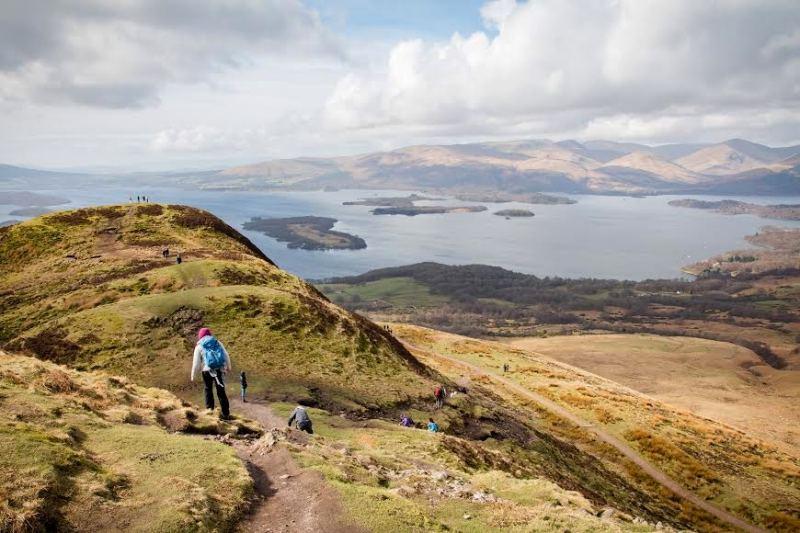 Ausblick auf den Loch Lomond in Schottland
