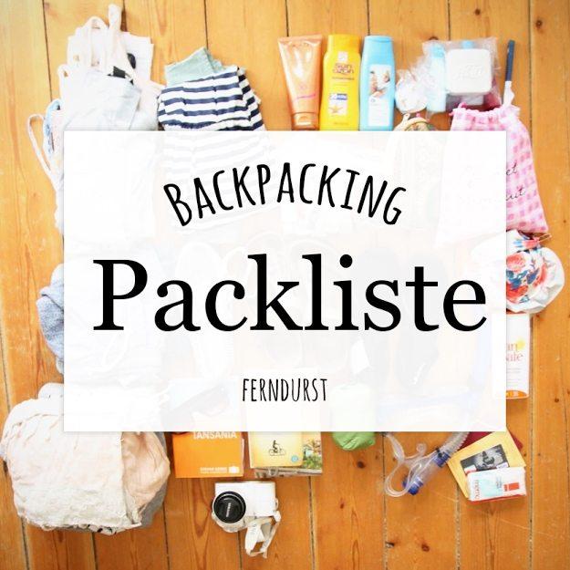 Backpack Packliste Ferndurst