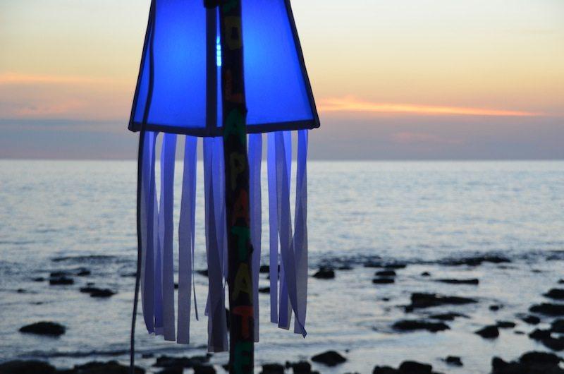 Sooo romantisch der Sonnenuntergang und am Klong Khong Beach mit Bierchen an der Strandbar am allerfeinsten