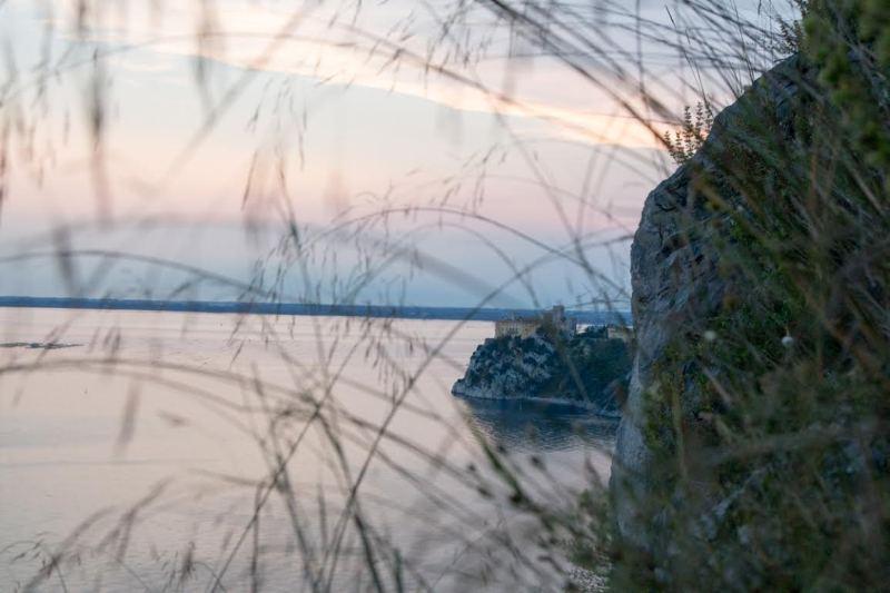 Sonnenuntergang am Rilkeweg in Sistiana