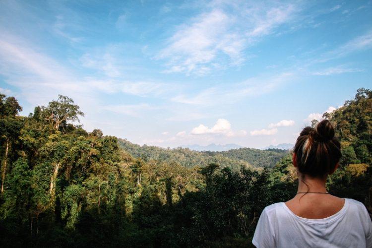 Chiang Dao in Thailand: Ausblick vom Wat Tham Pha Phlong