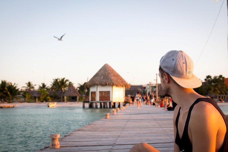 Tipp für die Isla Holbox: Sonnenuntergang am Steg