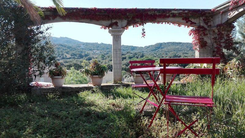 Porticcio: Aussicht von unserer Unterkunft bei der lieben Hendrikje (über Airbnb)