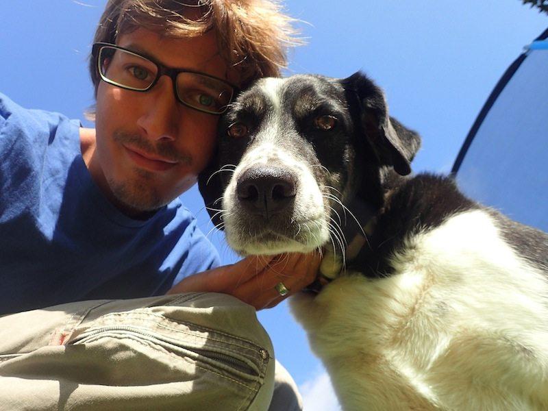 Farmarbeit Kanada - mit Farmhund Rosi