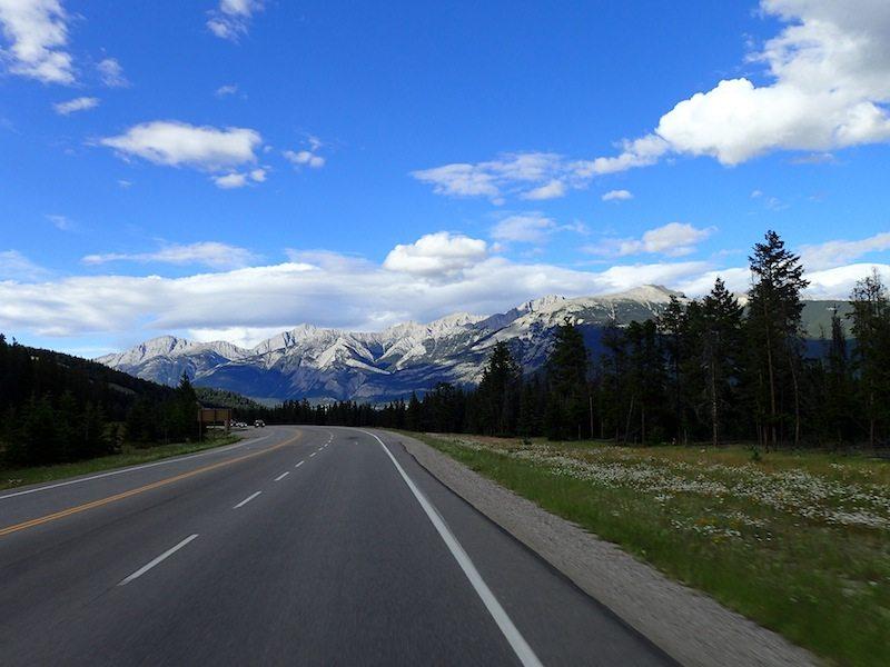 Auf dem Weg in die Rocky Mountains in West-Kanada