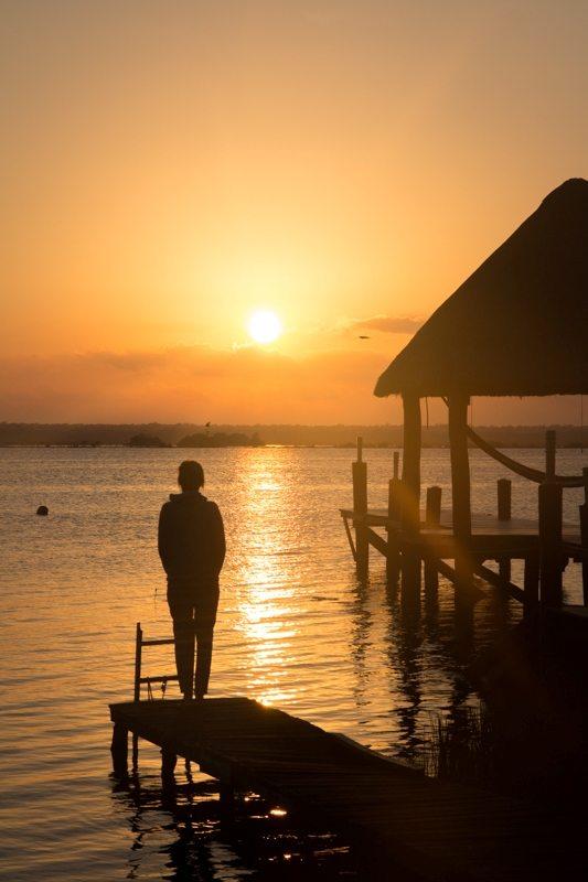 Yucatan Rundreise Tipps: Sonnenaufgang in Bacalar