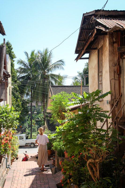 Weltreise Highlight in Laos: Spaziergang durch Luang Prabang