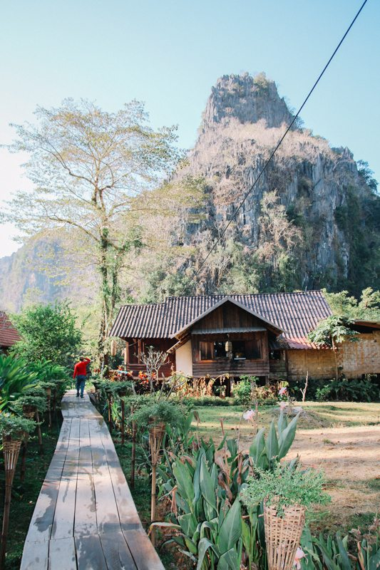 Das Spring River Resort am Kong Lor Cave in Laos