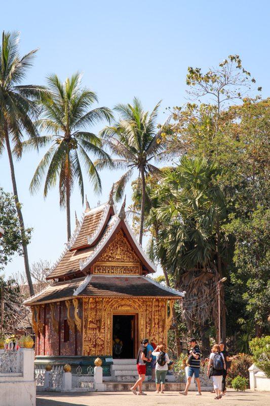 Weltreise HIghlight in Laos: Tempel in der Altstadt von Luang Prabang